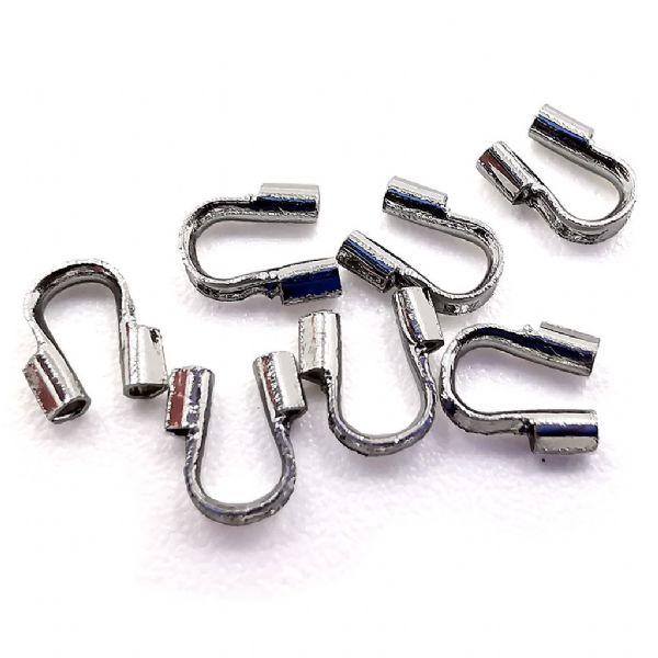 20pcs x rhodium plated wire guard - C7003118